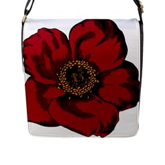 Floral Flower Petal Plant Flap Messenger Bag (l)