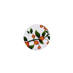 Flower Branch Nature Leaves Plant 1  Mini Buttons