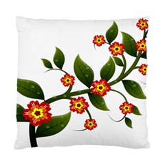 Flower Branch Nature Leaves Plant Standard Cushion Case (one Side)
