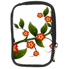 Flower Branch Nature Leaves Plant Compact Camera Cases