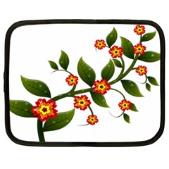 Flower Branch Nature Leaves Plant Netbook Case (xl)