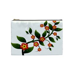 Flower Branch Nature Leaves Plant Cosmetic Bag (medium)