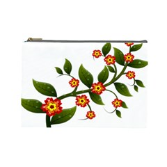 Flower Branch Nature Leaves Plant Cosmetic Bag (large)