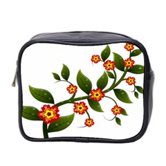 Flower Branch Nature Leaves Plant Mini Toiletries Bag 2 Side