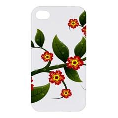 Flower Branch Nature Leaves Plant Apple Iphone 4/4s Hardshell Case