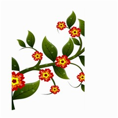 Flower Branch Nature Leaves Plant Large Garden Flag (two Sides)