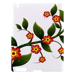 Flower Branch Nature Leaves Plant Apple Ipad 3/4 Hardshell Case