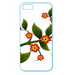 Flower Branch Nature Leaves Plant Apple Seamless Iphone 5 Case (color)