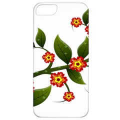 Flower Branch Nature Leaves Plant Apple Iphone 5 Classic Hardshell Case
