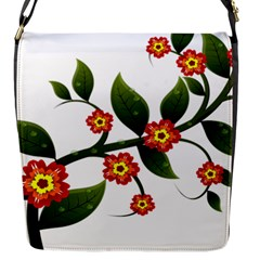 Flower Branch Nature Leaves Plant Flap Messenger Bag (s)