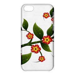 Flower Branch Nature Leaves Plant Apple Iphone 5c Hardshell Case