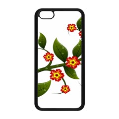 Flower Branch Nature Leaves Plant Apple Iphone 5c Seamless Case (black)