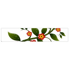 Flower Branch Nature Leaves Plant Small Flano Scarf