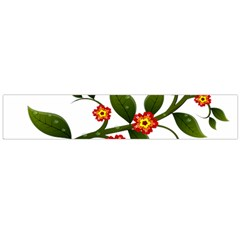 Flower Branch Nature Leaves Plant Large Flano Scarf