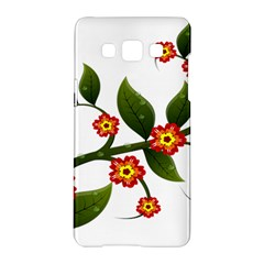 Flower Branch Nature Leaves Plant Samsung Galaxy A5 Hardshell Case  by Nexatart