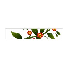 Flower Branch Nature Leaves Plant Flano Scarf (mini)
