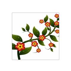 Flower Branch Nature Leaves Plant Satin Bandana Scarf by Nexatart