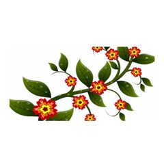 Flower Branch Nature Leaves Plant Satin Wrap