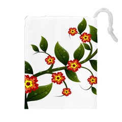 Flower Branch Nature Leaves Plant Drawstring Pouches (extra Large) by Nexatart