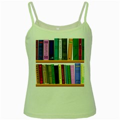 Shelf Books Library Reading Green Spaghetti Tank