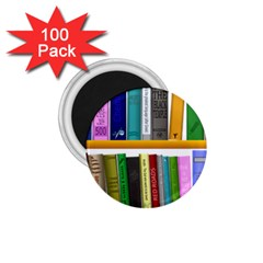 Shelf Books Library Reading 1 75  Magnets (100 Pack)