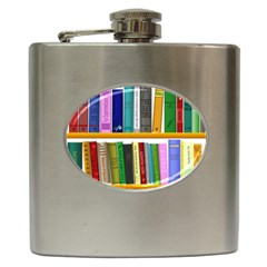 Shelf Books Library Reading Hip Flask (6 Oz)