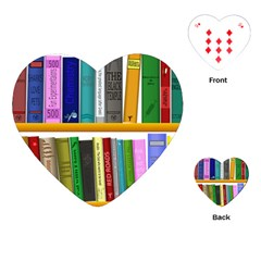 Shelf Books Library Reading Playing Cards (heart)