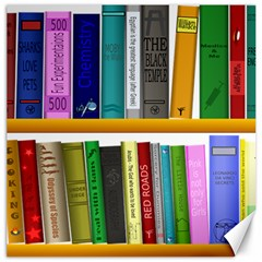 Shelf Books Library Reading Canvas 12  X 12