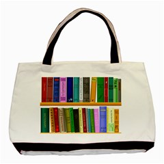 Shelf Books Library Reading Basic Tote Bag (two Sides)
