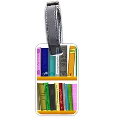 Shelf Books Library Reading Luggage Tags (one Side)