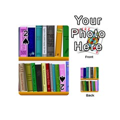 Shelf Books Library Reading Playing Cards 54 (mini)
