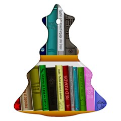 Shelf Books Library Reading Christmas Tree Ornament (two Sides)
