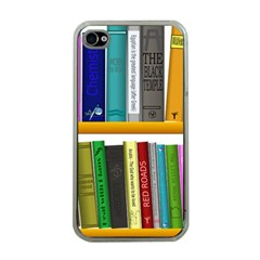 Shelf Books Library Reading Apple Iphone 4 Case (clear)