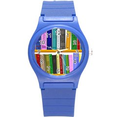 Shelf Books Library Reading Round Plastic Sport Watch (s)