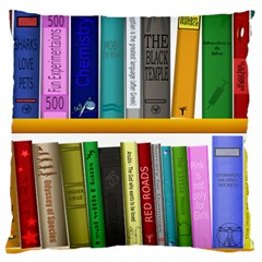Shelf Books Library Reading Large Cushion Case (two Sides)