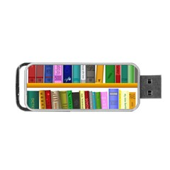Shelf Books Library Reading Portable Usb Flash (two Sides)