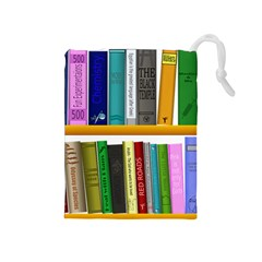 Shelf Books Library Reading Drawstring Pouches (medium)