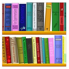 Shelf Books Library Reading Large Satin Scarf (square) by Nexatart
