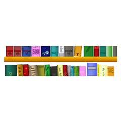 Shelf Books Library Reading Satin Scarf (oblong)