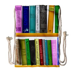 Shelf Books Library Reading Drawstring Bag (large)
