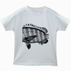 Animal Fish Ocean Sea Kids White T Shirts
