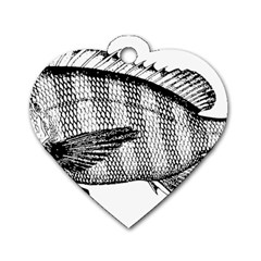 Animal Fish Ocean Sea Dog Tag Heart (two Sides)