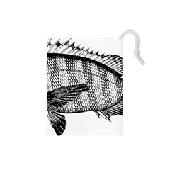 Animal Fish Ocean Sea Drawstring Pouches (small)