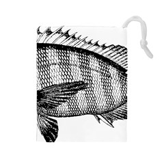 Animal Fish Ocean Sea Drawstring Pouches (large)