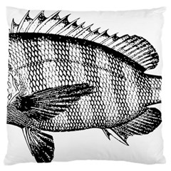 Animal Fish Ocean Sea Large Flano Cushion Case (one Side)