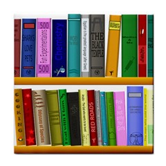 Shelf Books Library Reading Tile Coasters