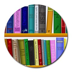 Shelf Books Library Reading Round Mousepads