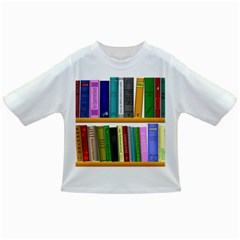 Shelf Books Library Reading Infant/toddler T Shirts
