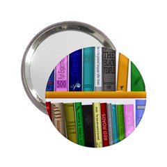 Shelf Books Library Reading 2 25  Handbag Mirrors