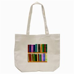 Shelf Books Library Reading Tote Bag (cream)